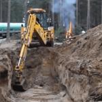 Подготовка котлована для монтажа газгольдера