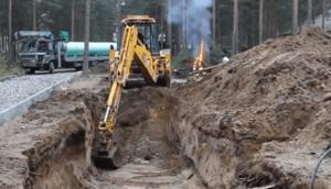траншея под газопровод