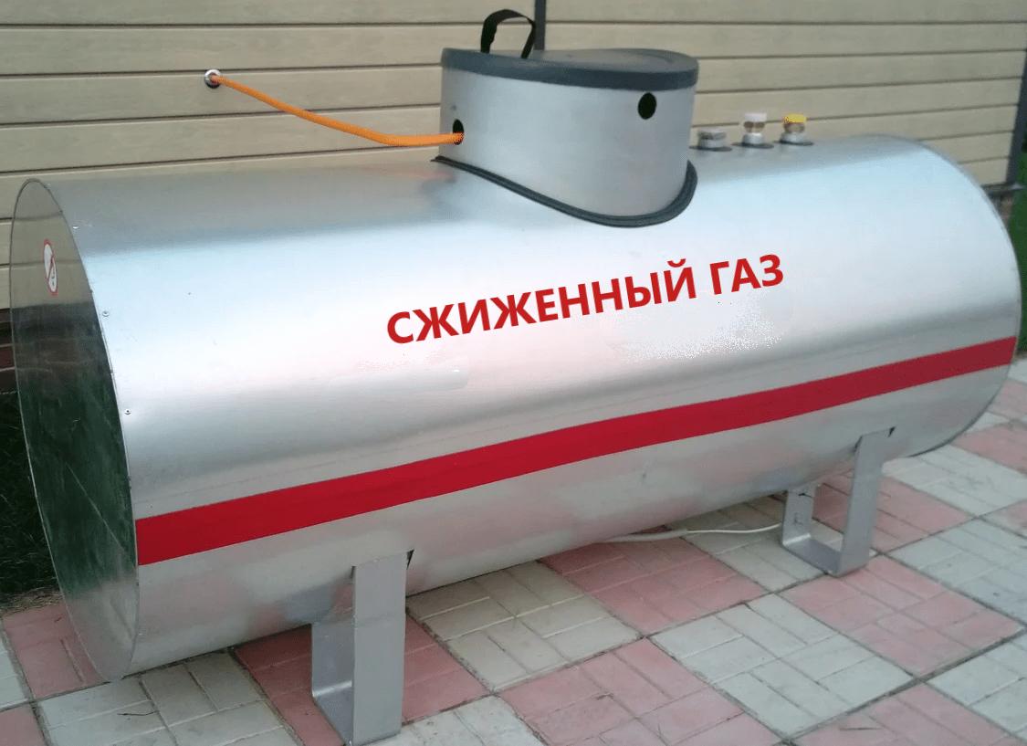 Наземный газгольдер подключен к дому