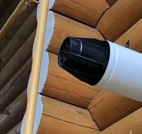 Дефлектор для коаксиального дымохода